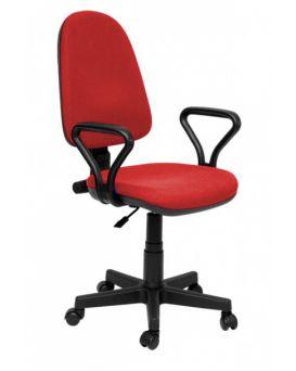 Кресло поворотное «Престиж» кожзам, красный, Новый Стиль