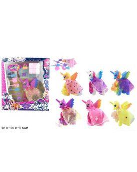 Герои мультфильма «My Little Pony» в накидке, расческа, сумочка, в ассортименте, в кор. 32х29х5,5 см
