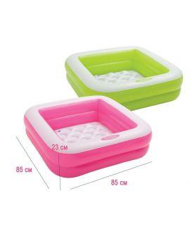 Бассейн надувной, мягкое дно, в ассортименте, у коробке 85х85х23 см