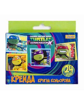 Мел круглый, цветной, 24 шт. «Ninja Turtles»