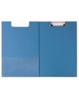 Папка-планшет А4 с прижимом Economix, ПВХ, синяя