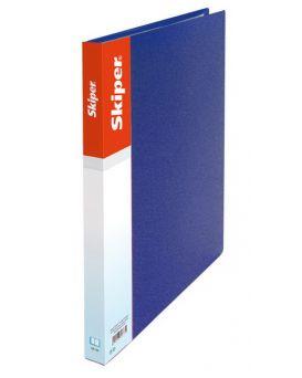 Папка пластиковая А5 с прижимом SK-11-A5 синяя