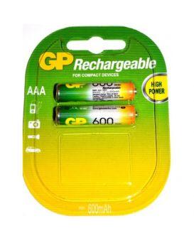 Батарейка rechar GP R-03 600 mAh (аккумулятор.)