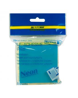 Блок бумаги для заметок 76 х 76 мм, 300 л. «UKRAINE Неон» 2 цв. х 150 л.