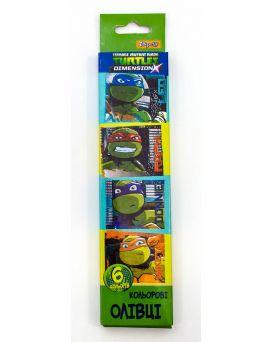 Карандаши 6 цветов «Ninja Turtlesl»