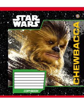 Тетрадь 12 л., А5, линейка, ЗУ «Star Wars Heroes -17»