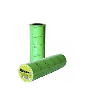 Ценник 3 метра 29 х 36 мм, зеленый, F1/5/600