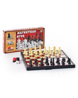 Шахматы магнитные «3 в 1» в коробке 25х13 см