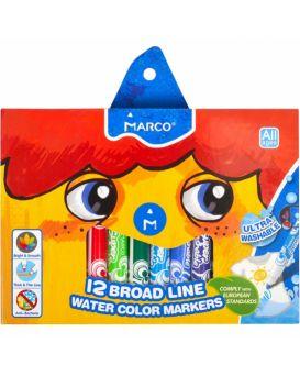 Фломастеры 12 цветов «Super Washable Jumbo» ТМ Marco