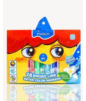 Фломастеры 24 цвета «Super Jumbo Washable» Marco