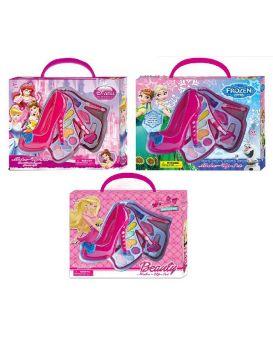 Набор детской косметики «Frozen. Barbie. Disney Princess» 2 яруса, в ассортименте, в кор. 28х5х23 см