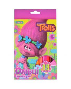 Карандаши 18 цветов «Trolls»