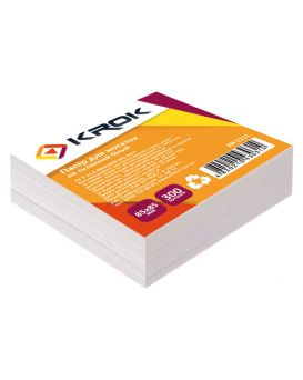 Блок бумаги для заметок не клееный 85 х 85 мм, 300 л. «Белый» Krok