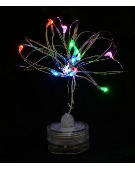 Электрогирлянда LED - нить «Light for water» водонепроницаемая, 15 ламп, многоцветная, 1,60 м