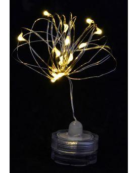 Электрогирлянда LED - нить «Light for water» водонепроницаемая, 15 ламп, молочно - белая, 1,60 м