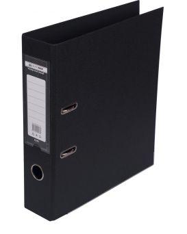 Регистратор А4 ELITE двусторонний, сборный, 70 мм, PP, черный.