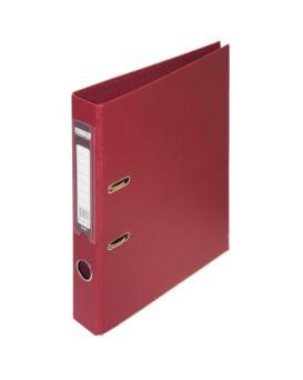 Регистратор А4 ELITE двухсторонний, сборный, 50 мм, PP, бордовый.