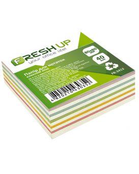 Блок бумаги для заметок клееный 80 х 80 х 40 мм «Классика» Fresh Up