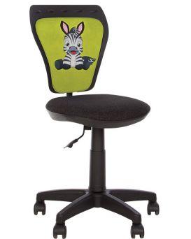 Кресло детское поворотное GTS WHITE WHITE «Zebra» Новый Стиль