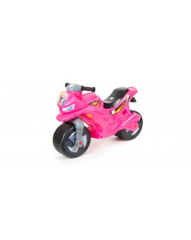 Толокар «Мотоцикл» 2-х колесный, розовый, 68х28,5х47 см, ТМ Орион