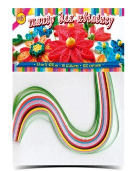 Бумага для квиллинга №17, 10 цветов, толщина 10 мм, длина 420 мм, ТМ Рюкзачок