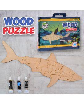 Пазл 3D «Акула» деревянный, ТМ 1 Сентября