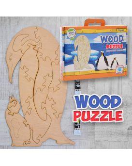 Пазл 3D «Пингвин» деревянный, ТМ 1 Сентября