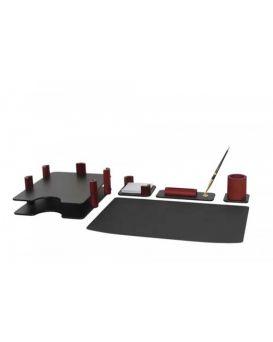 Набор настольный деревянный 5 предметов «Красное дерево»