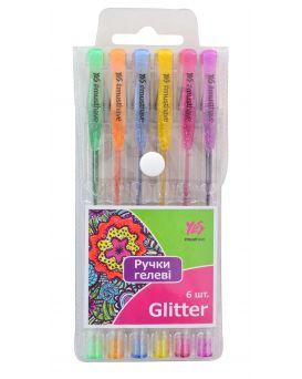 Набор гелевых ручек 6 цветов, PVC «Glitter»