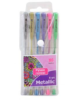 Набор гелевых ручек 6 цветов, PVC «Metallic»