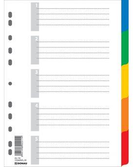 Индекс - разделитель цифровой А4 с листом описи 5 позиций, цветной