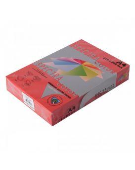 Бумага цветная А4 250 листов, 160 гр/м2, интенсив - красный «Red 250» SPECTRА COLOR