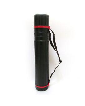 Тубус для ватмана d 10,5 см, 50х90 см, черный