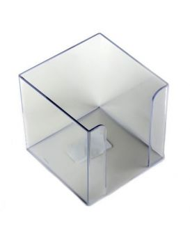 Бокс для бумаги 90 х 90 х 90 мм, прозрачный, JOBMAX