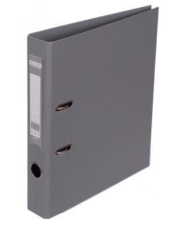 Регистратор ELITE двост. А4, 50мм, PP, серый, сборный
