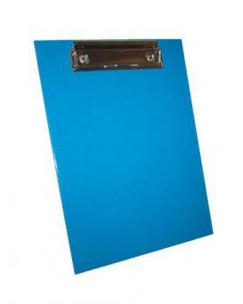 Планшет А5 с зажимом, переплетный картон, ламинированный, цвет синий.