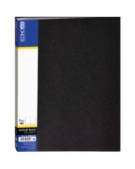 Папка пластиковая А4 с 40 файлами Economix, черная