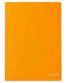 Папка - уголок А4 Economix, фактура «глянец» 180 мкм, оранжевая.