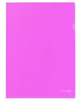 Папка - уголок А4 Economix, фактура «глянец» 180 мкм, розовая.