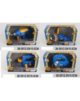 Набор инструментов на батарейке в ассортименте, звук, в коробке 26,5х12,5х15 см