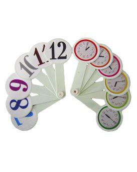 Веер «Цифры и часы»