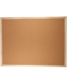 Доска пробковая 60 х 90 см, рамка деревянная, JOBMAX
