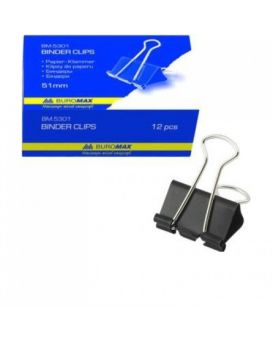Биндеры для бумаги 51 мм, 12 шт., JOBMAX