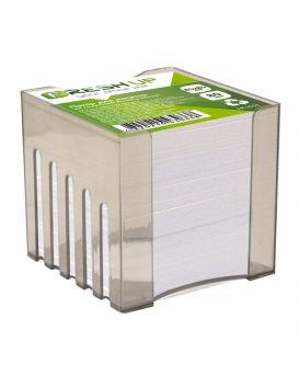 Блок бумаги для заметок 85х85мм 800л, белый не клееный, в пластиковом боксе Fresh Up