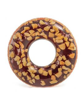 Круг надувной Intex Пончик шоколадный 114 см