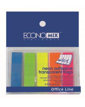 E20945 Стикер-закладка пласт.(5 неоновых цветн.)