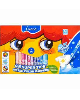 Фломастеры 48 цветов «Super Washable» Marco