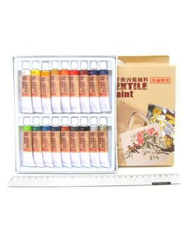 EAF1812 Набор красок для текстиля 18*12мл
