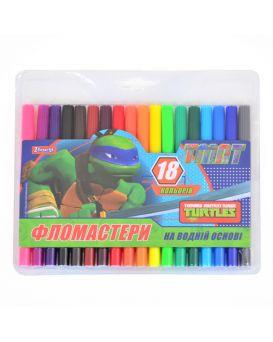 Фломастеры 18 цветов «Ninja Turtles»