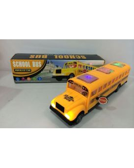 Игрушка музыкальная «Автобус» на батарейке, свет, зук, в коробке 28х19х18 см